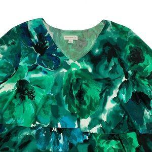 Susan Graver Tops - Susan Graver Tiered Ruffle Liquid Knit Tunic 💚